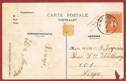 Asch Langstempel Griffe  Op Zichtkaart - Postmark Collection