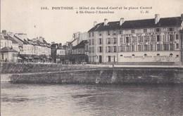 95 SAINT OUEN L' AUMONE  HOTEL Du Grand Cerf Place Carnot Vue De PONTOISE  Timbre 1910 - Saint-Ouen-l'Aumône
