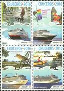 Uruguay 2016 ** Serie Cruceros. Turismo. Barcos. Perro. Jilguero. See Desc. - Barche