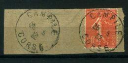 FRANCE  :  Y&T  N°  199   SUR  FRAGMENT  C A D  DE  CORSE  DU  26  MAI  1932  , A  VOIR . - Marcophilie (Timbres Détachés)