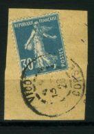 FRANCE  :  Y&T  N°  192   SUR  FRAGMENT   C A D   DE  CORSE , A  VOIR . - Marcophilie (Timbres Détachés)