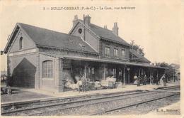 CPA 62 BULLY GRENAY LA GARE VUE INTERIEURE - France
