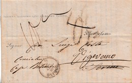 S184- Stampato Del 18 Ottobre 1859 Da Torino A Vigevano Retrodata E Tassata Prima 0,5 Poi 10 Soldi .   Leggi .... - Sardaigne
