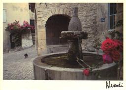 CPM Seguret (Vaucluse) La Fontaine Aux Roses. Photo Alessandri - Other Municipalities