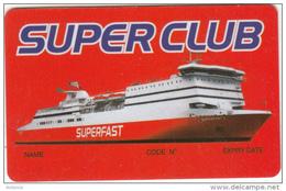 GREECE - Superfast Ferries, Member Card, Unused - Hotelkarten