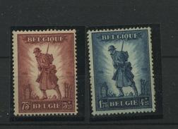 Hommage à L'Infanterie  De   Belgique + 351/352 *  Qualité Charnière  Cote 160 Euros - Publicités