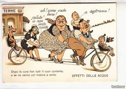 Caricatura_Caricature_Humor_Umorismo_Effetti Delle Acque...Terme_ Originale Antica 100% - Humor