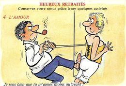HUMOUR ILLUSTRATEUR  ALEXANDRE  HEUREUX RETRAITES 5  L'AMOUR SERIE 898/4 EDIT LYNA - Alexandre