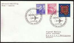 Austria Vienna 1974 / Swissair Flight Wien - Bombay - Bangkok - Hong Kong - Manila / Airplanes / Cancel No 2 - Airplanes
