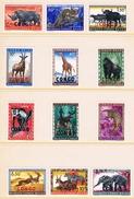 République Du Congo - Faune Du Congo 1959 Surchargés CONGO 400/411 ** - Timbres