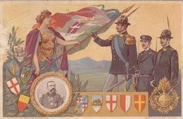Guardia Di Finanza-consegna Della Bandiera - Immagine Generale Masi.viagg.1911-rara - Bandiere