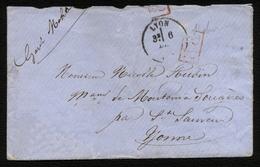 """France Guerre De 1870 : Garde Mobile Lettre De Lyon 6 Déc. En Franchise """"P.P."""" Rouge - TB Qualité - Guerra De 1870"""
