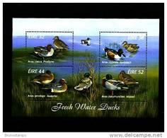 IRELAND/EIRE - 1996  FRESH WATER DUCKS  MS MINT NH - Blocchi & Foglietti