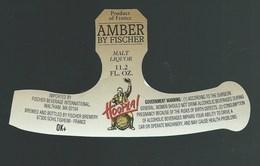 Etiquette Biere Fischer Schiltigheim  Amber By Fischer Hoopla - Beer