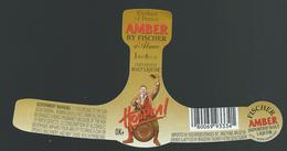 Etiquette Biere Fischer Schiltigheim  Amber   By Fischer Hoopla - Bière