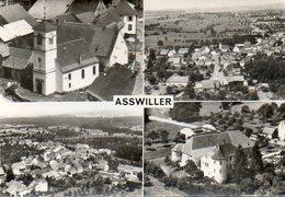 CPSM Dentelée - ASSWILLER (67) - Carte Multi-Vues De Vues Aériennes Du Villages Dans Les Années 50 - Autres Communes