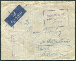WW2 Australia Tatura, Victoria Internment Camp / Prisoner Of War Censor Cover - 1937-52 George VI