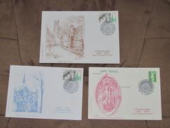 Lot De 3 Documents Et Enveloppe Philatélique -centenaire Société Timbrophile De Reims 51 Du 24/11/1990 - Documents Of Postal Services