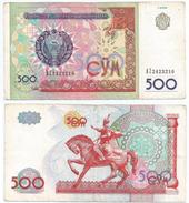 Uzbekistan 500 Sum 1999 Pick 80 Ref 1290 - Uzbekistán