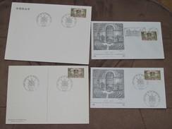 Lot De 4 Document Et Enveloppes Philatélique - Timbre De France / Centenaire Du Sénat 1875-1975 Du 24/05/1975 - Documents Of Postal Services