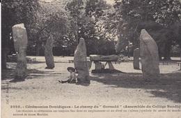 CPA CEREMONIES DRUIDIQUES LE CHAMP DU GORSEDD ( ASSEMBLEE DU COLLEGE BARDIQUE) - Saint-Brieuc