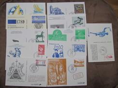 Lot De 11 Documents Philatélique  De LA POSTE - Timbre De France / Entiers Postaux - Documenten Van De Post