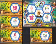 TCHAD 2015 - Histoire Des Jeux Olympiques D'été - 2008 à 2020 - 5 BF Neufs // Mnh - Chad (1960-...)