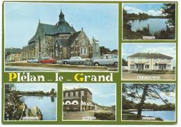 CP PLELAN LE GRAND, RENAULT 4L, ETANG DE TREGU, DU PERRAY ET DE LA CHEZE, HOTEL DE VILLE, ILLE ET VILAINE 35 - France
