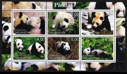 20028 Tadjikistan Bloco Ursos Panda NNN - Tajikistan