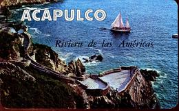 Velero En La Quebrada De Acapulco, Guerrero 1979 (000452) - Mexiko
