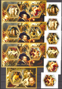 TCHAD 2015 - Art, Peintures De P.P.Rubens - 6 Val + 4 BF Neufs // Mnh - Ciad (1960-...)