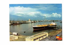 Cpm - 76 - LE HAVRE - Port Autonome / Métanier Centrale E.D.F. - Bateau Grue - Le Havre
