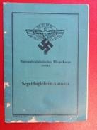 NSFK Segelfluglehrer-Ausweis WW2 Remscheid 1944 Segelflugschule Ballenstedt - Dokumente