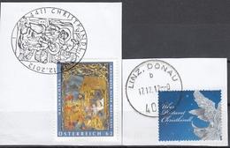 ÖSTERREICH 2012 - Über Postamt Christkindl / Leitzettel Und Sonderstempel Abschnitt - 2011-... Gebraucht