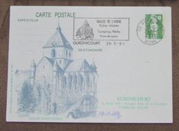 2 Documents Cartes Philatéliques / Entiers Postaux / Foire Du Sucre Guignicourt 02 Du 26/05/1991 + Lièvre Et Tortue 1995 - Documenten Van De Post