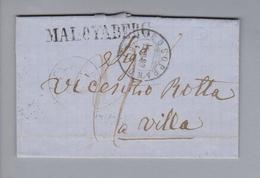 Heimat CH GR Maloyaberg 1869-03-15 (Mocosoprano) Ortsbrief - Lettres & Documents