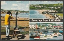 Multiview, Greetings From Paignton, Devon, 1969 - Constance Postcard - Paignton