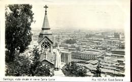 Santiago De Chile - Vista Desde El Cerro Santa Lucia 1924 (000463) - Chili