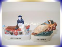 Lou Et Cigalou .. Lot De 2 Fèves  ...Ref AFF : 90-2004 ...(Pan 0033) - Regions