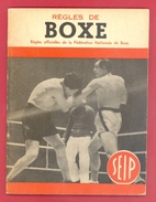 """FASCICULE ANCIEN - 1949 - """"REGLES DE BOXE"""" - REGLES OFFICIELLES FEDERATION NATIONALE DE BOXE - 40 PAGES - (15 X 12 Cm) - Books"""