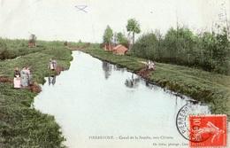 PIERREPONT CANAL DE LA SOUCHE VERS CHIVRES (CARTE COLORISEE) - France