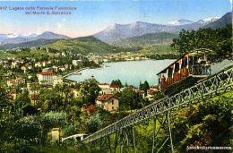 Lugano -Ferrovia Funiculare Mte. S.Salvatore+c1910  (23195) - Other