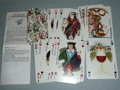 Rare Jeu De 54 Cartes Avec Notice Les VINS De FRANCE, Woutaz, Vin Bordeaux Bourgogne, Joker As De Pique Ace Of Spade - 54 Cartes