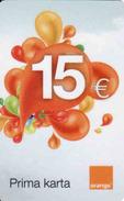 Slovakia-Slovaquie Orange 15 €, Plastic Magnetic Card - Slovaquie