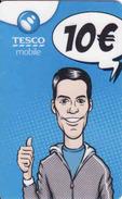 Slovakia-Slovaquie Tesco Mobile 10 €, Plastic Magnetic Card - Slovaquie
