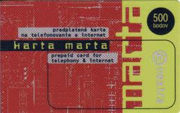 Slovakia-Slovaquie Nextra Mobile Prepaid Card Marta - Slovaquie