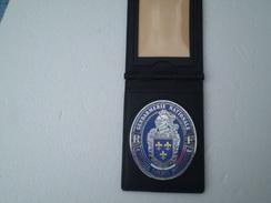 Plaque De La Gendarmerie Nationale Sur Cuir,neuve - Police