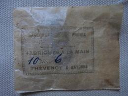 Ancien - Sachet De 10 Hameçons N° 6 Phénix Fabriqués Main Thévenot à Bayonne - Fishing