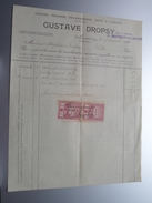 GUSTAVE DROPSY Mariembourg ( H. Mathot-Gilmaire / Grains ) 1920 > Tichon Mariembourg - Factuur ( Tax ) ! - Alimentaire