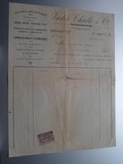 VICTOR CHALLE & Co Mariembourg ( Scierie Mécanique ) 1923 > Tichon Mariembourg - Factuur ( Tax ) ! - Belgium